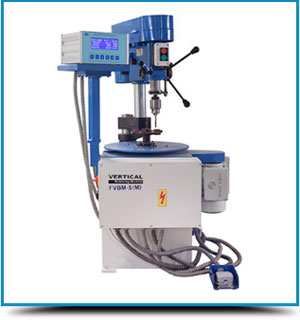 Vertical Balancing Machine with Vertical Drilling Head Attachment